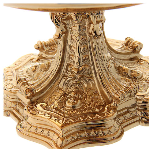 Monstrance throne in gold-plated brass 2
