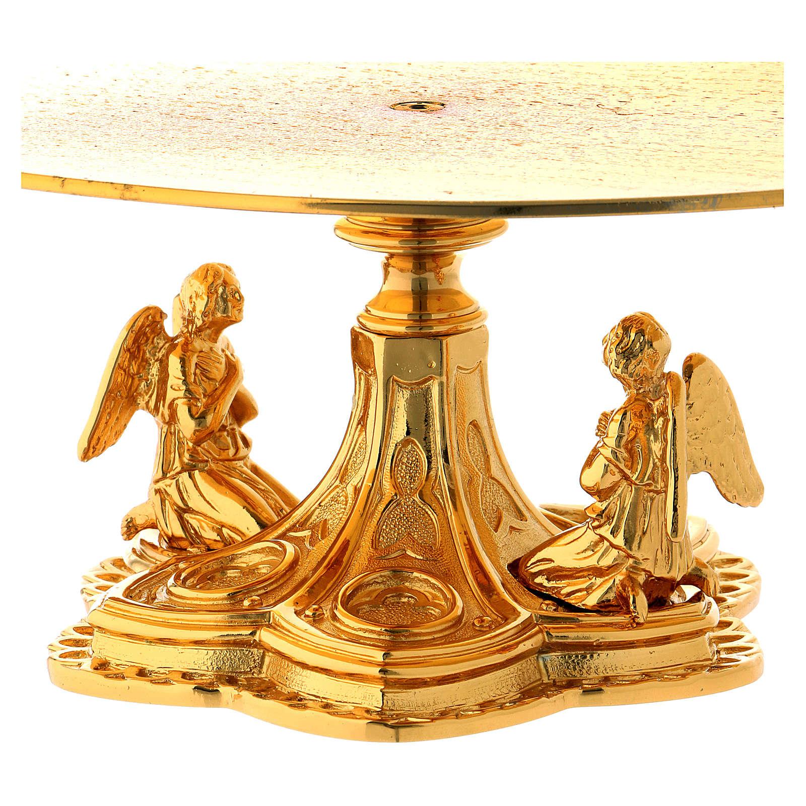 Tronetto ottone dorato base in fusione Angeli 4