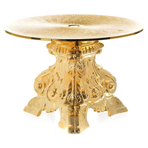 Tronetto ottone dorato h 15 cm 2