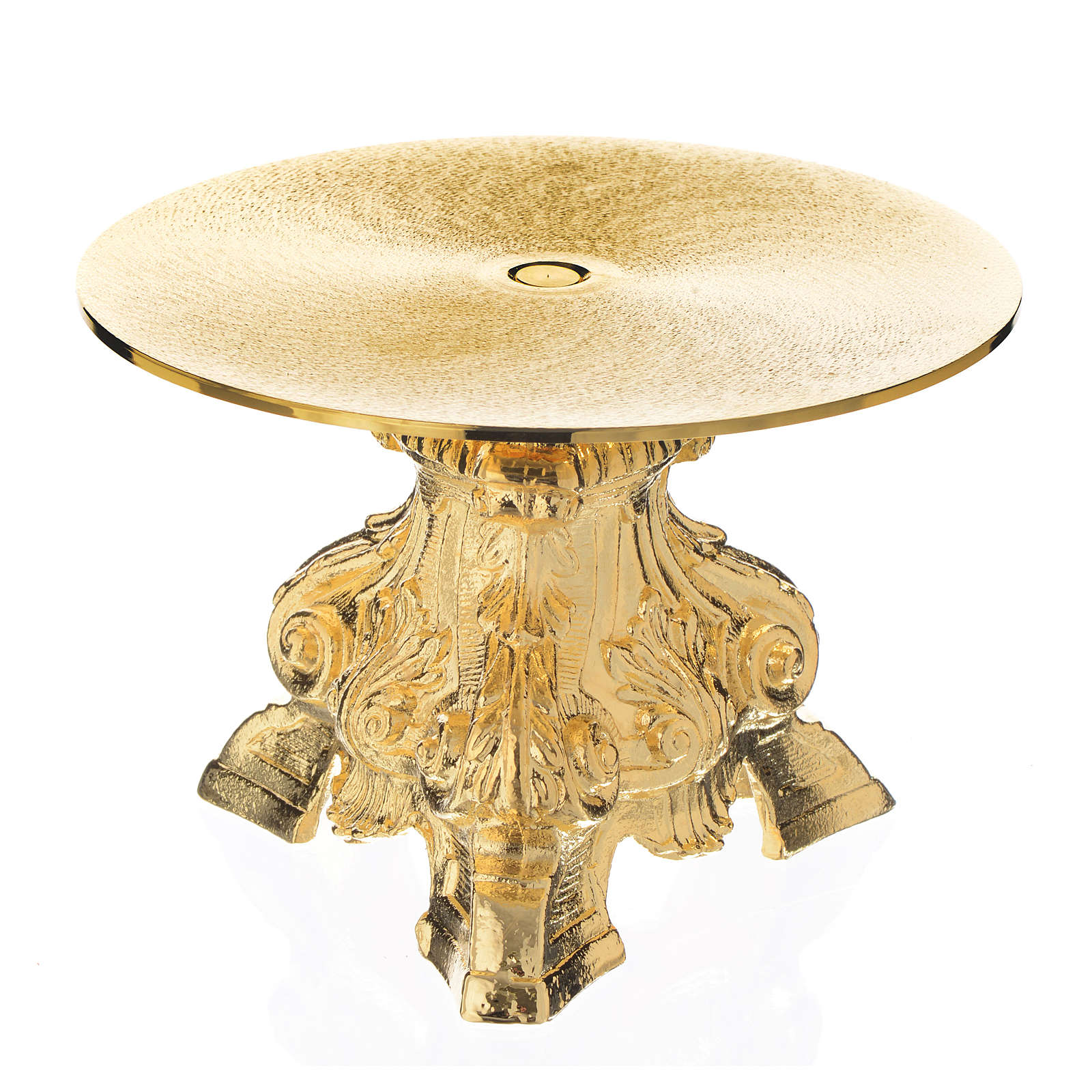 Monstrance throne made of golden brass measuring 15cm 4