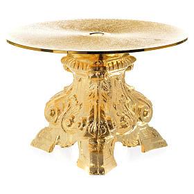 Monstrance throne made of golden brass measuring 15cm s2