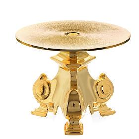 Base ostensório em latão dourado h 12 cm s1