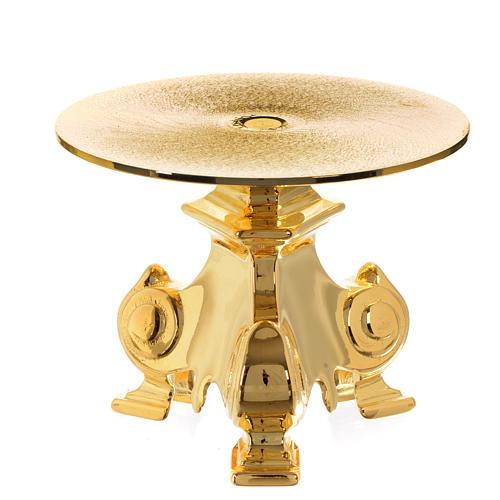 Base ostensório em latão dourado h 12 cm 1