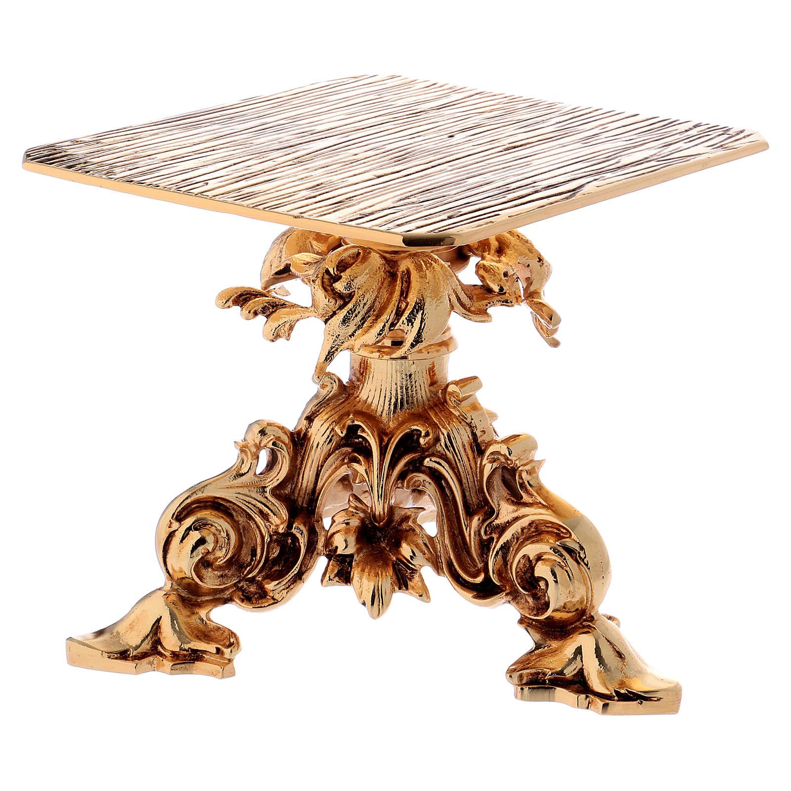Trono de latón fundido dorado 24x22 cm 4