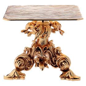 Trono de latón fundido dorado 24x22 cm s1