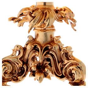 Trono de latón fundido dorado 24x22 cm s2