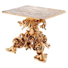 Trono de latón fundido dorado 24x22 cm s3