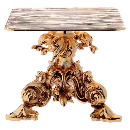 Trono de latón fundido dorado 24x22 cm 1
