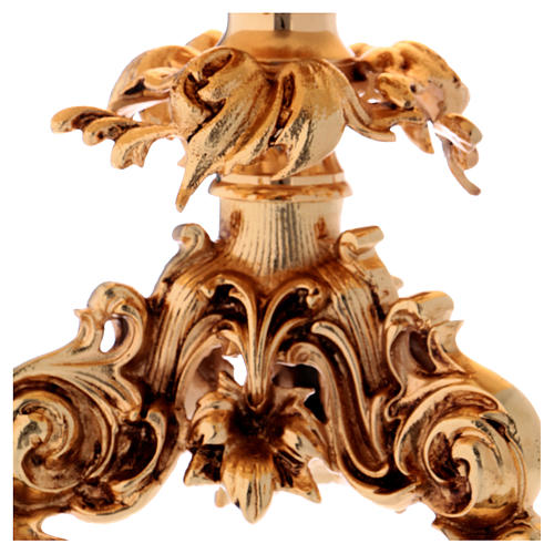 Trono de latón fundido dorado 24x22 cm 2