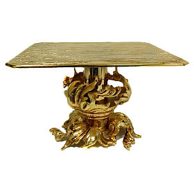 Monstrance stand in gold-plated brass 7 inch tall s1