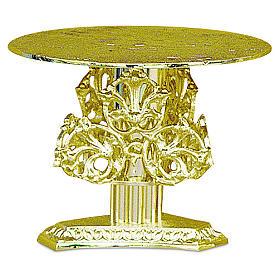 Base per ostensorio decori ottone dorato fuso h 14 cm s1