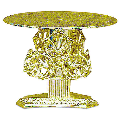 Monstrance throne with decorations in fused brass wet in gold 14 cm 4