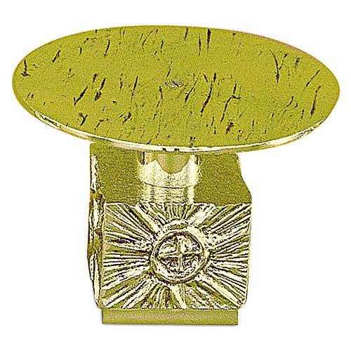 Tronetto ottone fuso h 14 cm - piatto 18,5 cm 1