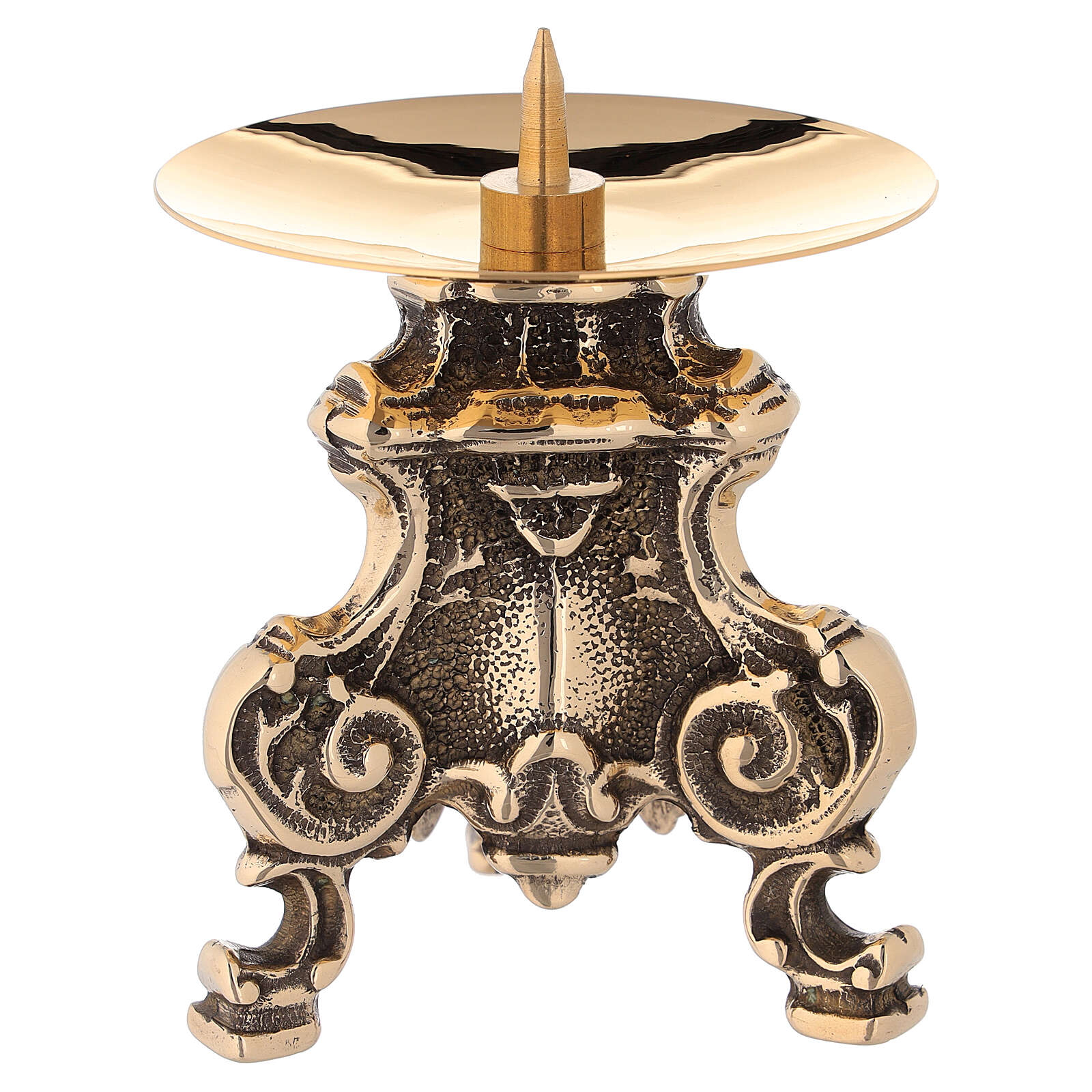 Monstrance in polished brass, baroque style 4