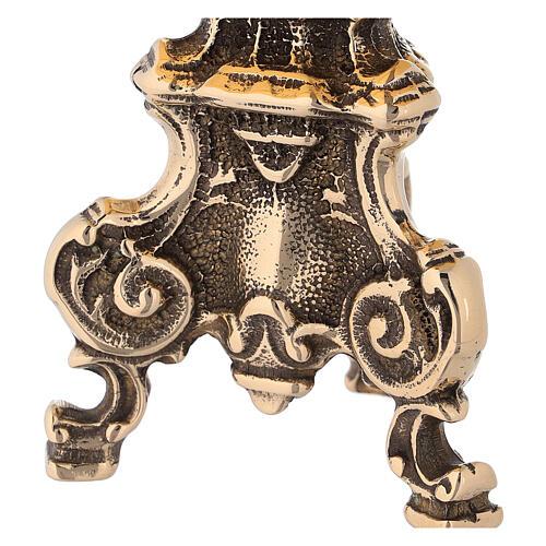 Trône baroque en laiton brillant 2