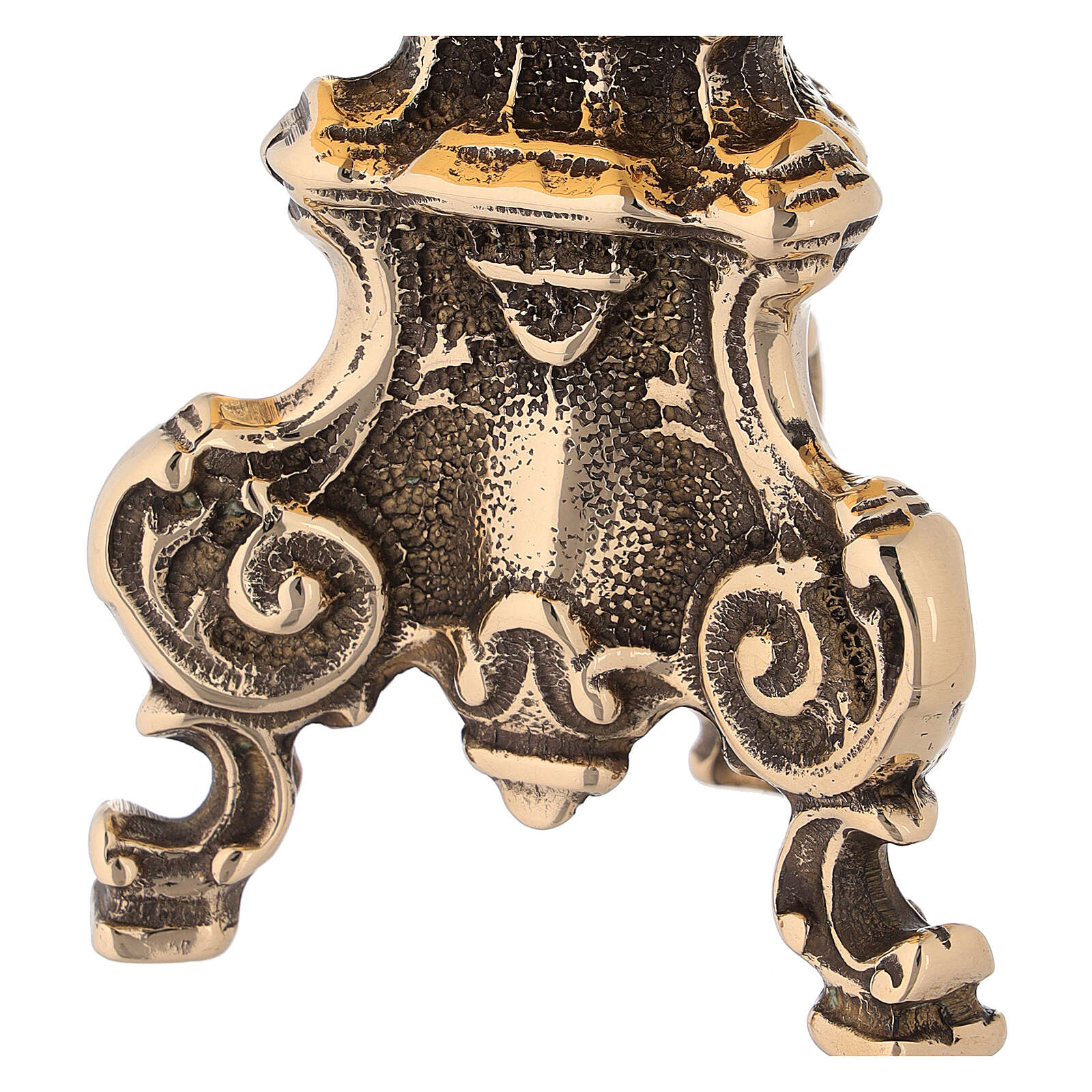 Tronetto barocco in ottone lucido 4