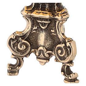 Tronetto barocco in ottone lucido s2