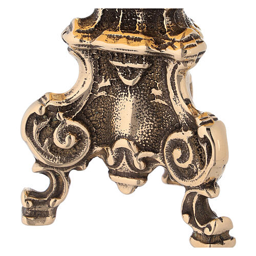 Tronetto barocco in ottone lucido 2