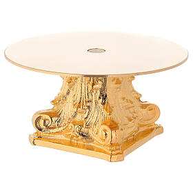 Monstrance in golden brass, capital-shaped s3