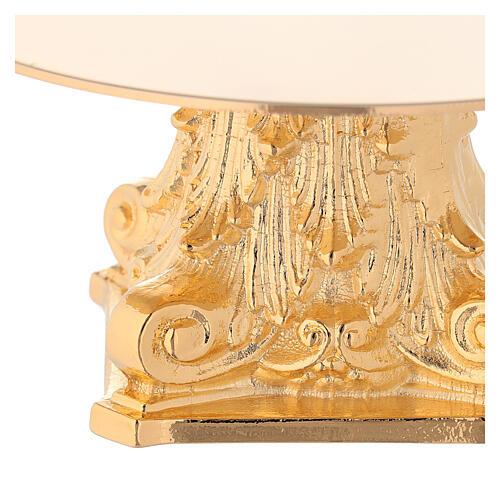 Monstrance in golden brass, capital-shaped 2