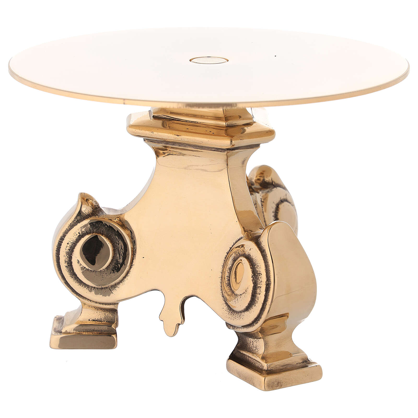 Monstrance stand with cast brass base 4