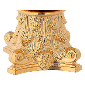 Monstrance column capital-shaped with spike in brass s2