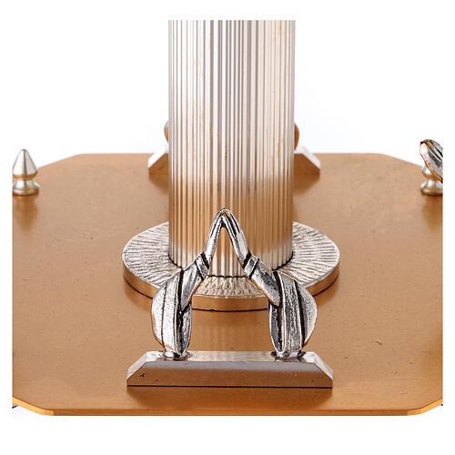 Base para ostensorio bicolor latón dorado realizado a mano 2