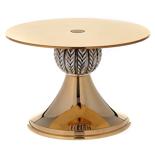 Thabor table 24-karat gold plated brass with spikes pattern on node 1