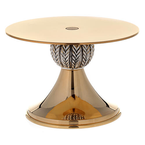 Thabor table 24-karat gold plated brass with spikes pattern on node 3