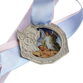 Médaille pour berceau double ruban s1