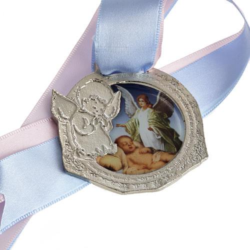 Médaille pour berceau double ruban 1