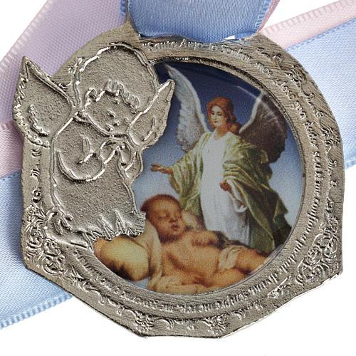 Médaille pour berceau double ruban 2