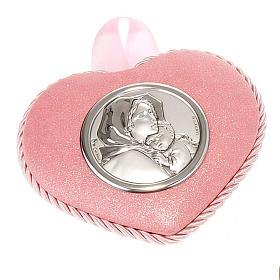 Medalla para cuna Corazón con Virgen Ferruzzi s2