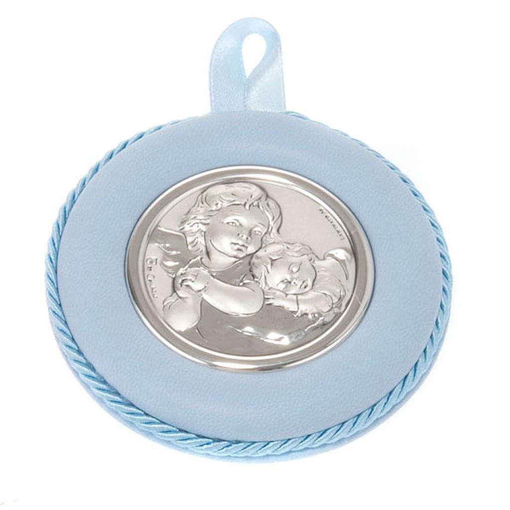 Medalla para cuna redondo Ángel con el Niño 4