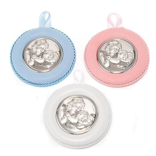 Medalla para cuna redondo Ángel con el Niño 1