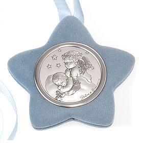 Medalla para cuna estrella Ángel rezando con el Niño s2