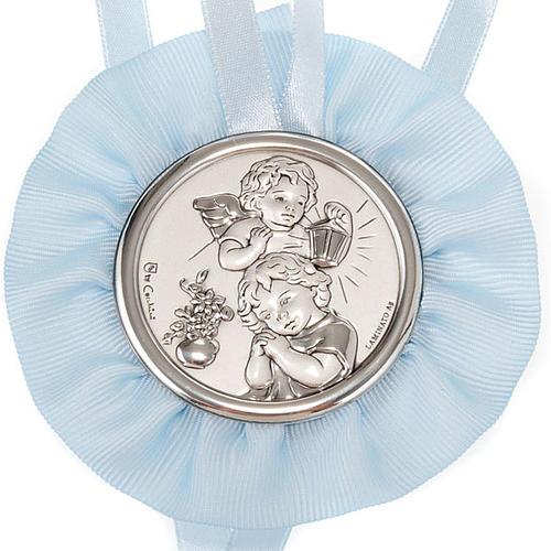 Medalla para cuna Ángel con Farol y el Niño, cinta 2