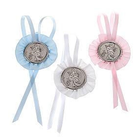 Medalhões e Medalhas para Berço: Medalhão de berço roseta anjo com menino e lanterna