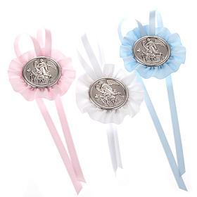Medalhões e Medalhas para Berço: Medalhão de berço roseta anjo da guarda com 2 meninos
