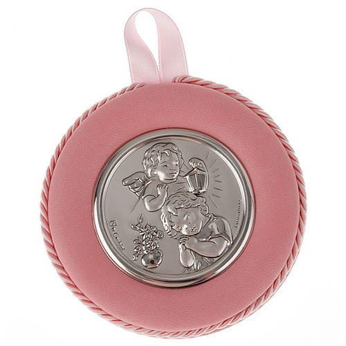 Medal, cradle decoration, angel, baby and lantern 2