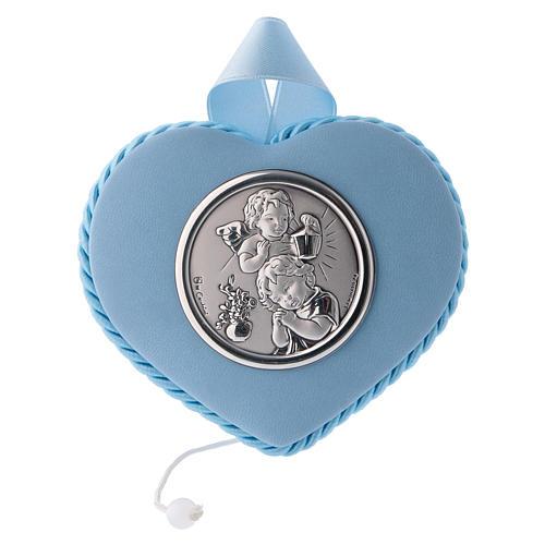 Sopraculla azzurro cuore angelo e bambino 5