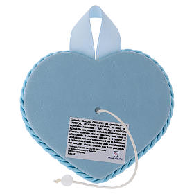 Heart, blue cradle decoration with angel and baby s2