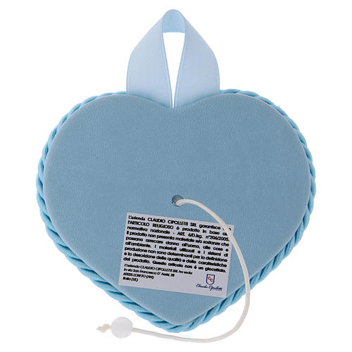 Heart, blue cradle decoration with angel and baby 2
