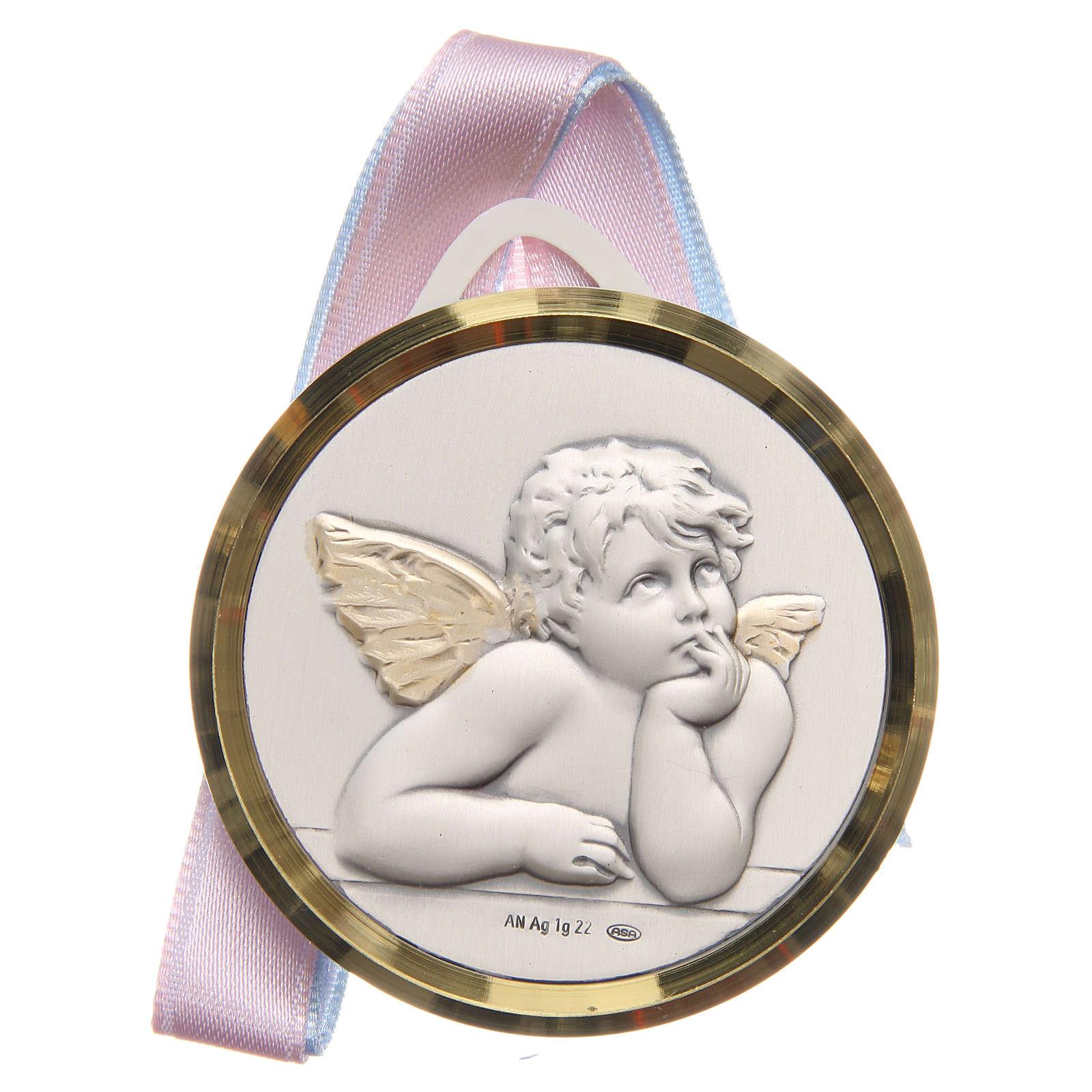 STOCK Sopraculla tondo Angeli argento 925 4