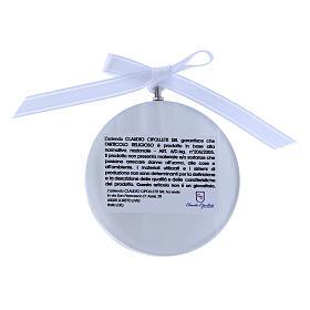 Medalla para cuna redonda Ángel cinta blanca s2