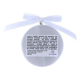 Medalla para cuna redonda Virgen Ferruzzi cinta blanca s2