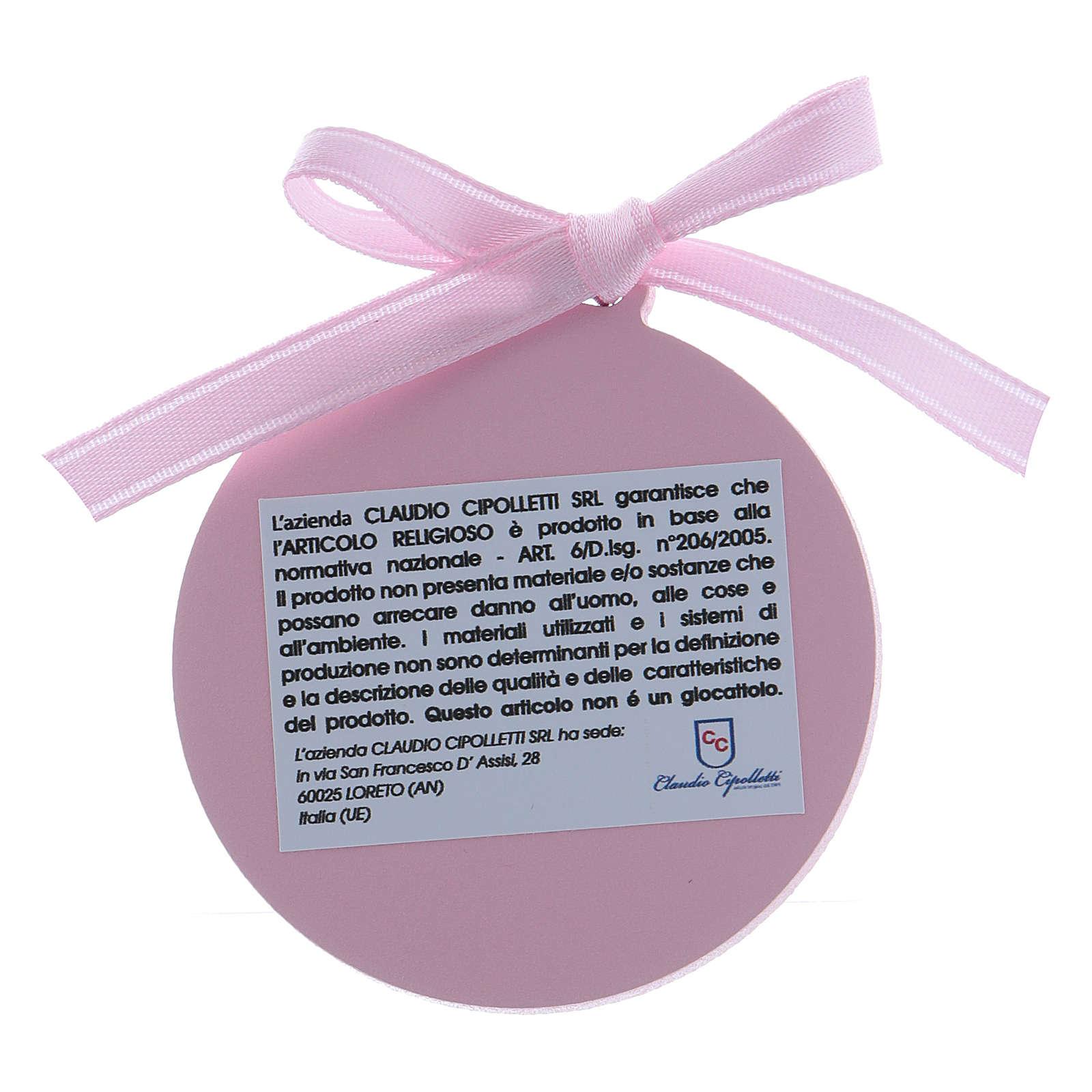 Dekoration für Kinderbett Bilaminat mit Goldverzierungen und rosa Bändchen 4