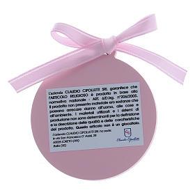 Dekoration für Kinderbett Bilaminat mit Goldverzierungen und rosa Bändchen s2