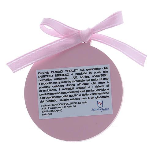 Dekoration für Kinderbett Bilaminat mit Goldverzierungen und rosa Bändchen 2
