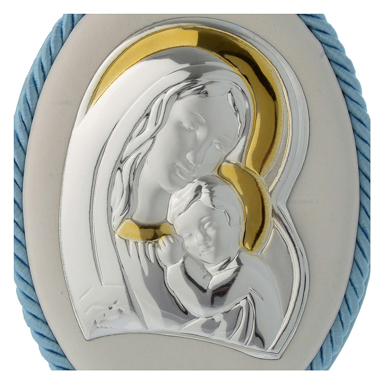 Capoculla azzurro con Madonna e Bambino, carillon 4